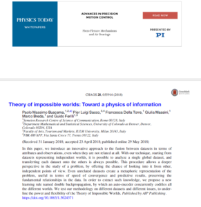 Theory of impossible worlds: Toward a physics of information
