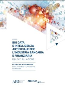 BIG DATA E INTELLIGENZA ARTIFICIALE PER L'INDUSTRIA BANCARIA E FINANZIARIA