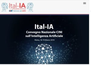 CINI – National Conference on Artificial Intelligence 18 March 2019 Rome