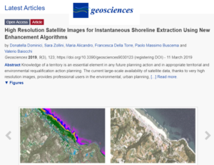 High Resolution Satellite Images for Instantaneous Shoreline Extraction Using New Enhancement Algorithms