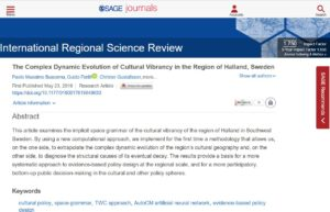 The Complex Dynamic Evolution of Cultural Vibrancy in the Region of Halland, Sweden