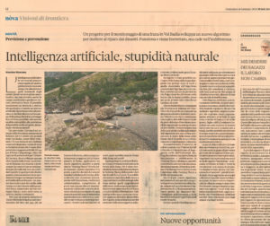 IL SOLE 24 ORE – Artificial Intelligence for Landslide Modeling, Prediction