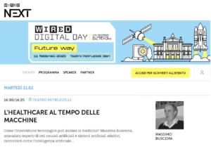 WIRED DIGITAL DAY –  Conference 11 February 2020 Bari Italy