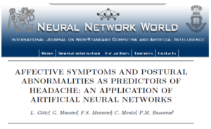 AFFECTIVE SYMPTOMS AND POSTURAL ABNORMALITIES AS PREDICTORS OF HEADACHE: AN APPLICATION OF ARTIFICIAL NEURAL NETWORKS