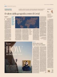 Il Sole 24 ore – Il valore della geografia contro il Covid  – Ma la carica virale non è da sottovalutare.