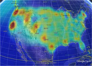 Analysis of COVID-19 pandemic in USA, using Topological Weighted Centroid