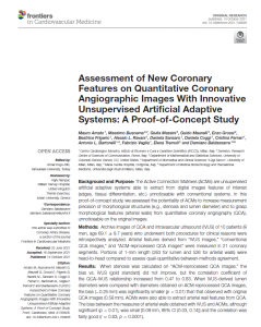 Assessment of New Coronary Features on Quantitative Coronary Angiographic Images With Innovative Unsupervised Artificial Adaptive Systems: A Proof-of-Concept Study